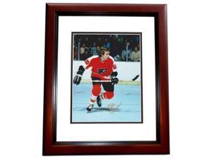 8 x 10 in. Bobby Clarke Autographed Philadelphia Flyers Photo, Mahogany Custom Frame