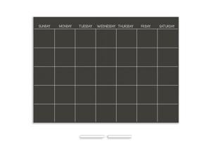 Brewster Home Fashions WP1157 Chalkboard Monthly Dry Erase Calendar Decal - 17.5 in.