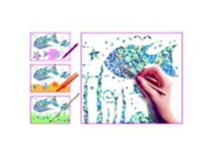 Scratch-Art Glitter Scratch And Sparkle Board With Stylus - 8.5 x 11 in. - White, Pack 30