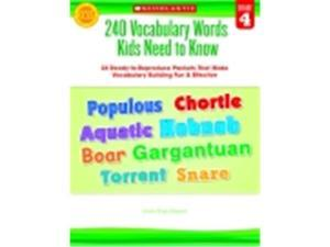 Scholastic 240 Vocabulary Words Kids Need To Know, Grade 4