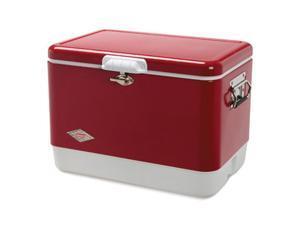 Coleman 3000003095 54 Quart Red Steel Belted Cooler