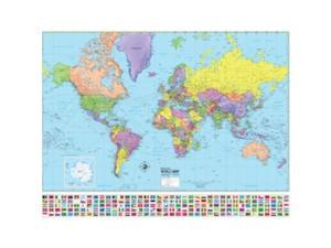 Universal Map 29183 Advanced Political World Laminated - Rolled Map 48 x 36 in.