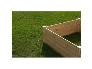Riverstone Industries Eden RGB-4418 4 Ft. x 4 Ft. X 17.5 In. Quick Assembly Raised Garden Bed