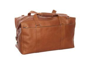 Piel Leather 2997 Genuine Leather Extra Large Zip Pocket Duffel Bag