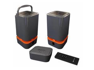 Wolverine Data WIOS-5.8 Wireless Indoor-Outdoor 5.8 GHz & Bluetooth Dual Band Surround Sound Twin Speakers