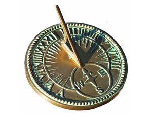 Rome 2310 Roman Sundial, Solid Brass With Light Verdi Highlights, 8 in. Diameter