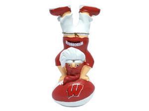 Wisconsin Badgers Garden Gnome - Handstand On Football