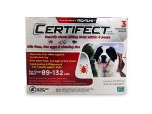 Merial 004CER3-89-132 Certifect For Dogs