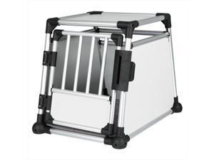 TRIXIE Pet Products 39341 Scratch-Resistant Metallic Crate, Medium