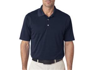 adidas A161 Mens ClimaLite Textured Polo - Navy, Medium