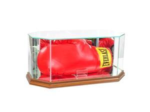 Perfect Cases BOXOCT-W Octagon Glass Full Size Boxing Glove Display Case, Walnut