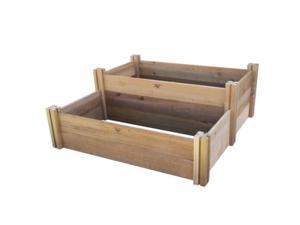 Gronomics MLRRGB 48-50 Multi-Level Rustic Raised Garden Bed 48x50x19