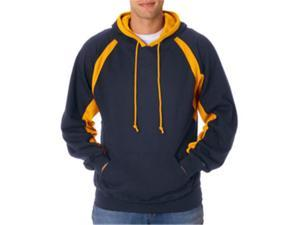 Badger 1262 Hook Hooded Sweatshirt, Navy and Gold, 4XL