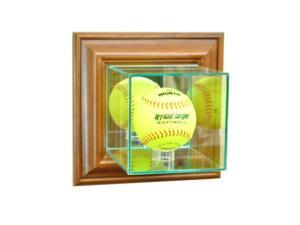 Perfect Cases WMSFT-W Wall Mounted Softball Display Case, Walnut
