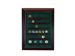 Perfect Cases PC-36COINCB-C 36 Coin Cabinet Style Display Case, Cherry