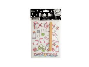 Bulk Buys CG245-48 Family Sayings Rub-On Transfers