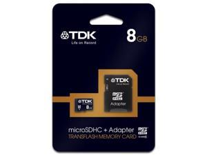 TDK MicroSDHC Memory Card 8GB 78537 Class 4 With SD Adapter