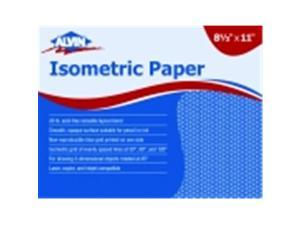 Alvin Isometric Sketch Paper - 8.5 x 11 in. - Non-Photo Blue Grid, Pack 100