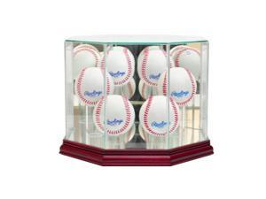 Perfect Cases 6BSB-C Octagon 6 Baseball Display Case, Cherry
