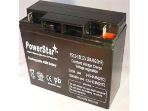 PowerStar PS12-18-87 12V 18Ah Sealed Lead Acid Battery - T3 Terminals For Zb-12-22