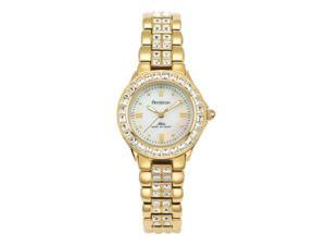 Armitron 75-3689MPGP Womens Bezel and Bracelet Gold Plated Watch