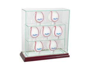 Perfect Cases 7UPBSB-C 7 Upright Baseball Display Case, Cherry