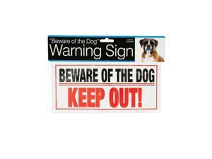 Bulk Buys DI266-96 Dog Warning Sign