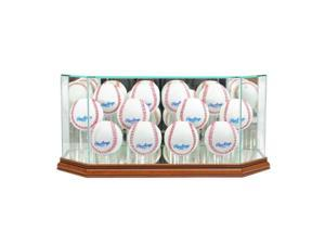 Perfect Cases 12BSB-W Octagon 12 Baseball Display Case, Walnut
