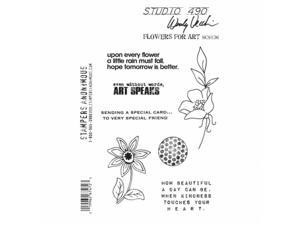 Stampers Anonymous SCS136 Studio 490 Cling Stamps 7 x 8.5 in. - Flowers For Art