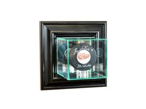 Perfect Cases WMPUC-B Wall Mounted Single Puck Display Case, Black