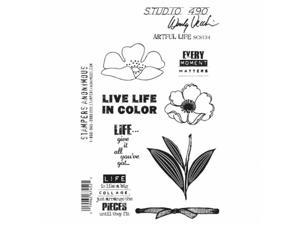 Stampers Anonymous SCS134 Studio 490 Cling Stamps 6.5 x 8.75 in. - Artful Life