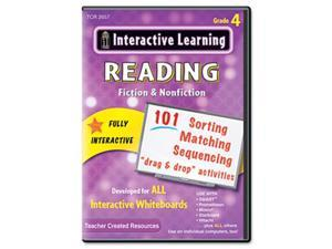 Teacher Created Resources 2657 Interactive Learning Software: Reading Fiction and Nonfiction, Grade 4