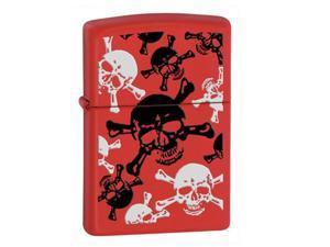 Fox Outdoor 86-24471 Skulls Zippo Lighter - Red Matte