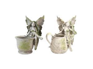 Exhart 30068 15 in. Fairy Pot - Sitting On Pot