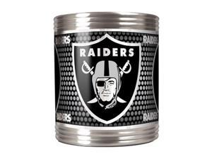 Great American Products 73504 Oakland Raiders Stainless Steel Can Holder with Metallic Graphics