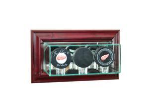 Perfect Cases WMTRPPK-C Wall Mounted Triple Puck Display Case, Cherry