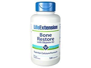 Life Extension 1727 Bone Restore with Vitamin K2, 120 Capsules