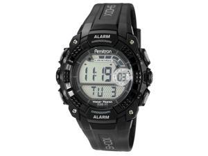 Armitron 40-8209BLK Mens Black Case LCD Module Black Strap Watch