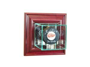 Perfect Cases WMPUC-C Wall Mounted Single Puck Display Case, Cherry