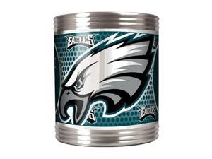 Great American Products 73517 Philadelphia Eagles Stainless Steel Can Holder with Metallic Graphics