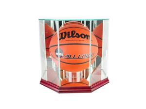 Perfect Cases BBO-C Octagon Basketball Display Case, Cherry