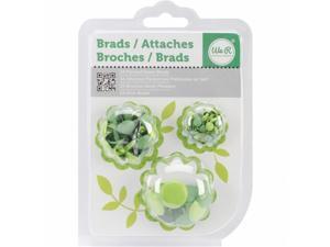 Painted Brads 54/Pkg-Green