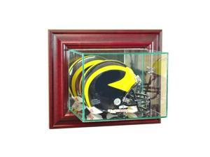 Perfect Cases WMMH-C Wall Mounted Mini Helmet Display Case, Cherry