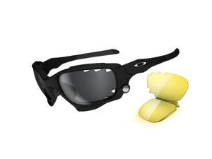 Oakley 04-207 Jawbone Sunglasses - Matte Black-Black Iridium Vented & Yellow