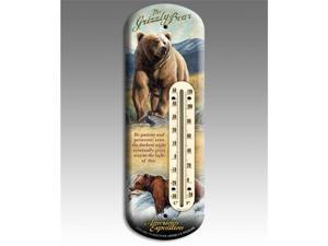Ideaman BTHM-117 Back Porch Thermometer - Grizzly Bear