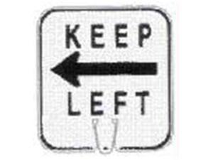 Olympia Sports SF045P Large Snap-On Cone Sign - KEEP LEFT