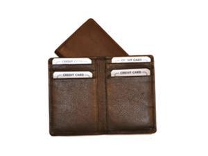 Budd Leather 120016-2 Nappa Business Card Case With 6 Credit Card Slits - Brown
