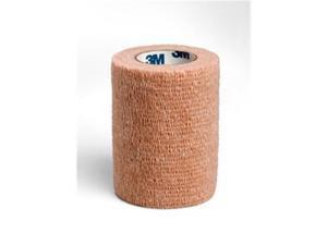 3M 1583S 3 in. x 5 yard Coban Self-Adherent Wraps, Latex, Sterile, Tan, 24 Rolls Per Case