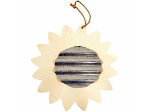 Darice 91-0044F Unfinished Wood Shape With Corrugated Metal - Sunflower