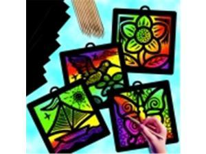 Scratch-Art Light Catcher Classroom Pack With Instruction - Multiple Color, Pack 12